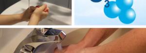 Lavarse las manos con ozono