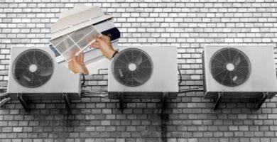 limpiar y desinfectar el filtro del aire acondicionado